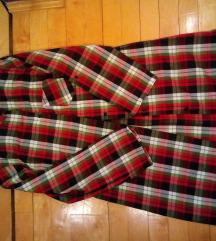 Karirana haljina košulja s/m