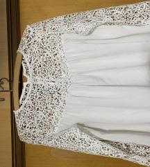 Bela bluza sa čipkom