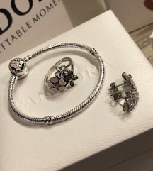Nov Pandora srebrni komplet