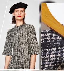 Zara tweed zimska haljina