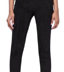 Zara black suede leggings