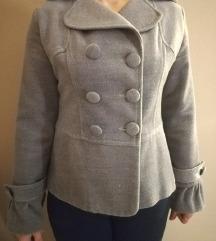 Sivi somotski kaput C&A, M veličina