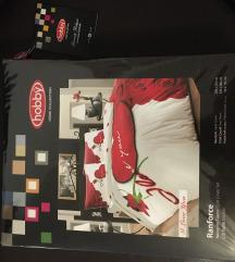 Nova pamučna posteljina,za francuski ležaj