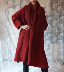Oversized crveni kaput od filca