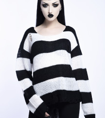 Casey Knit Sweater Killstar oversized XS White