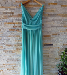 Svečana tirkizna haljina