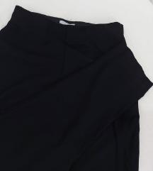 Crne H&M elegantne pantalone dubok struk