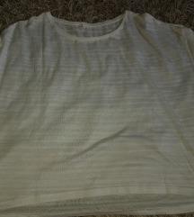 Poluprovidna siroka bela majica