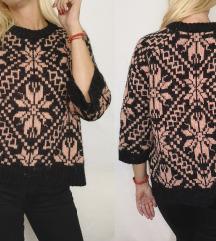 H&M VUNA/ALPACA džemper sa dezenom NOVO