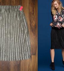 KIABI plisirana pliš suknja! Limited Edition!