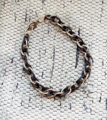 Ogrlica crno zlatna