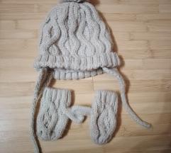 Zara kapa i rukavice, kao novo