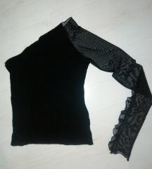 Crna svecana bluzica sa tilom