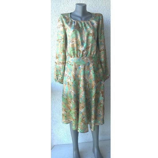 haljina svilena vintage broj S