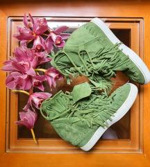 Italijanske kožne patike zelene