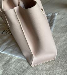 SNIŽENO-  FURLA SALLY Medium Saffiano Puder roze