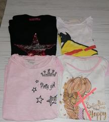 Tri majice za devojčice 7godina