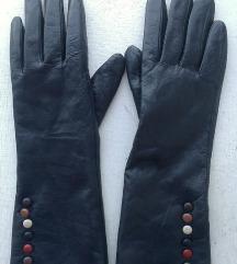 rukavice kožne teget duže broj 8,5