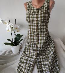 Karirana haljina na bretele ve 40