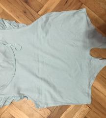 Majica crop top zelena