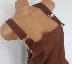 PRIMARK ★ treger čoko haljina od eko-velura