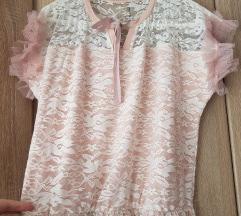 Roza haljina cipka