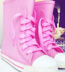 Gumene cizmice starke pink za devojcice