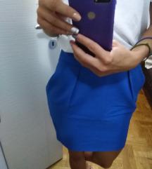 ZARA Plava suknja