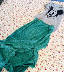 Zelena maxi suknja