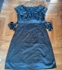 Esprit crna haljina od satena