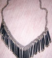 Crno-srebrna ogrlica