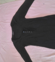 Bershka Majica / Bluza Crna S