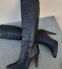 Španske kožne čizme na štiklu