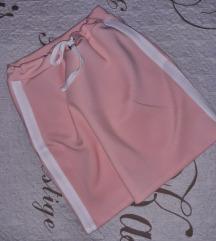 bebi roze duboka suknja sa elastinom S-M