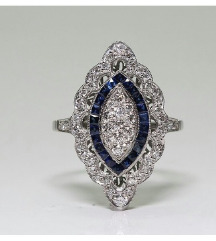 Beli topaz i plavi safir u srebru 925