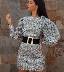 ZARA srebrna haljina NOVO sa etiketom