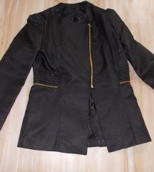Nov crni zip blejzer jakna M/L vel