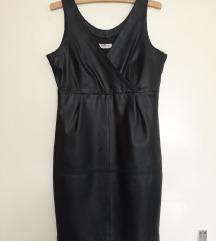 Crna haljina od prave koze