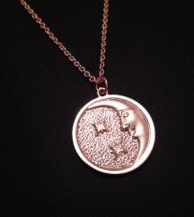 Rosegold Mesec ogrlica