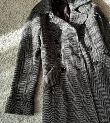 👑 H&M dugački strukiran  kaput  👑
