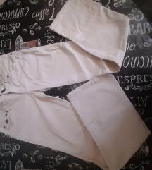 Bele somot zvono pantalone