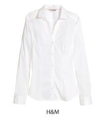 H&M bela strukirana kosulja