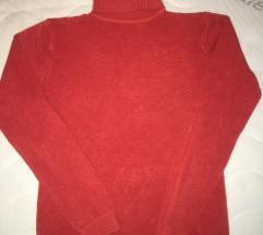 Koralno crveni zenski dzemper/rolka