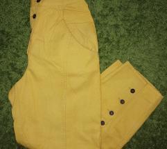 Vintage žute pantalone