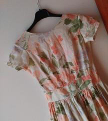 Vintage cvetna haljina XS