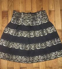 Crno zlatna kratka suknjica
