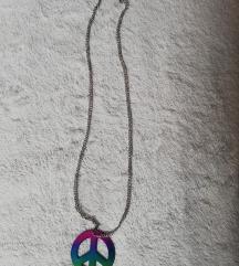 Ogrlica peace znak