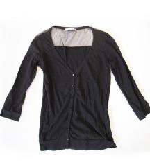 693. Caliope majica dugih rukava, crna, dugmici