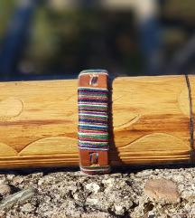 Kožna narukvica Rainbow (Prirodna koža)