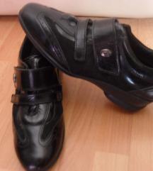 cipele, kombinacija lak-prevrnuta koza